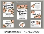 wedding invitation s suite with ... | Shutterstock .eps vector #427622929