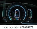 digital dashboard of a modern... | Shutterstock . vector #427628971