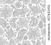 abstract vector floral seamless ... | Shutterstock .eps vector #427631431