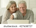 senior couple  with laptop | Shutterstock . vector #427638727