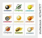 set of 9 vector elements for...   Shutterstock .eps vector #427647577