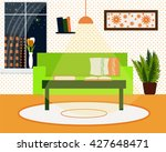 living room interior vector... | Shutterstock .eps vector #427648471