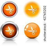 scissors beautiful buttons.... | Shutterstock .eps vector #42765202