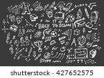 back to school big doodles set... | Shutterstock .eps vector #427652575