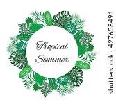 vector illustration   tropical... | Shutterstock .eps vector #427658491