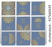 wedding invitation or card with ... | Shutterstock .eps vector #427660639