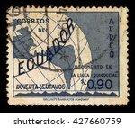 ecuador   circa 1953  a stamp... | Shutterstock . vector #427660759
