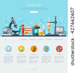 one page web design template... | Shutterstock .eps vector #427662607