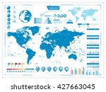 world map and infograpchic... | Shutterstock .eps vector #427663045
