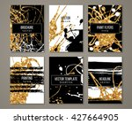 brochure template design set... | Shutterstock .eps vector #427664905