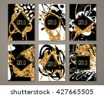 black and gold banners set ... | Shutterstock .eps vector #427665505