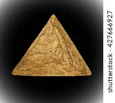 hand drawn gold triangle vector ... | Shutterstock .eps vector #427666927