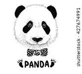Funny Panda Head