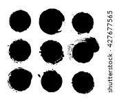 grunge brush circles | Shutterstock .eps vector #427677565