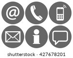 contact us  set of six white... | Shutterstock .eps vector #427678201
