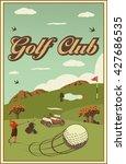 set of vintage golf labels ... | Shutterstock .eps vector #427686535