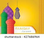 ramadan kareem   islamic muslim ... | Shutterstock . vector #427686964