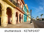 street scene with colorful... | Shutterstock . vector #427691437