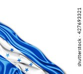 honduras flag of silk with... | Shutterstock . vector #427693321