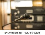 close up of microphone in the... | Shutterstock . vector #427694305