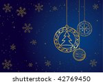 christmas card. gold and blue.   Shutterstock . vector #42769450