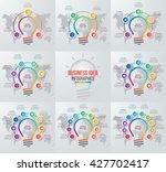 vector idea light bulb circle...   Shutterstock .eps vector #427702417