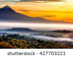 sunrise over mountains and... | Shutterstock . vector #427703221