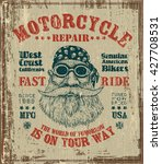 "poster retro design ""motorcycle ... | Shutterstock .eps vector #427708531"