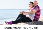 happy  charming mature couple... | Shutterstock . vector #427712581