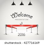 photorealistic bright stage... | Shutterstock .eps vector #427716169