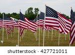 american flags in field... | Shutterstock . vector #427721011