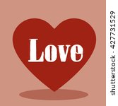 love heart vector | Shutterstock .eps vector #427731529