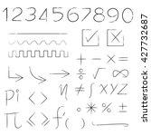 math sign  number  check list | Shutterstock .eps vector #427732687