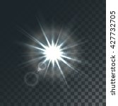 vector sun with light effects... | Shutterstock .eps vector #427732705
