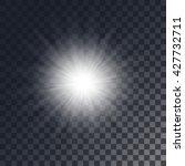 vector shining sun on... | Shutterstock .eps vector #427732711