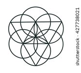 flower of life | Shutterstock . vector #427738021