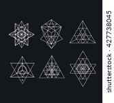 sacred geometry. alchemy ... | Shutterstock . vector #427738045