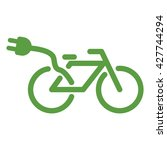 bicycle  ecology green icons... | Shutterstock .eps vector #427744294