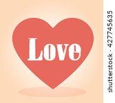 love heart vector | Shutterstock .eps vector #427745635