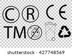 sign   c r  waste  tm   e ... | Shutterstock .eps vector #427748569
