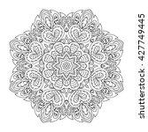 mandala pattern. doodle drawing....   Shutterstock . vector #427749445