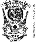 skull with guns | Shutterstock .eps vector #427751245