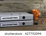 accounting and accounting   two ... | Shutterstock . vector #427752094