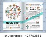 music brochure template a4 size.... | Shutterstock .eps vector #427763851