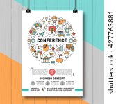 vector business conference... | Shutterstock .eps vector #427763881