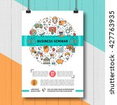 vector business seminar poster... | Shutterstock .eps vector #427763935