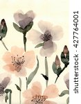cute floral background.... | Shutterstock . vector #427764001