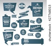 vintage labels set   origami... | Shutterstock .eps vector #427768015