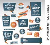 vintage labels set   origami... | Shutterstock .eps vector #427768021