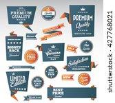 vintage labels set   origami... | Shutterstock .eps vector #427768021